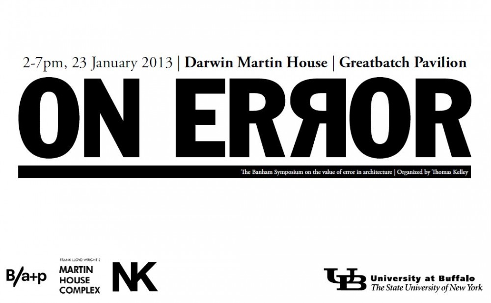 The Reyner Banham Symposium: On Error