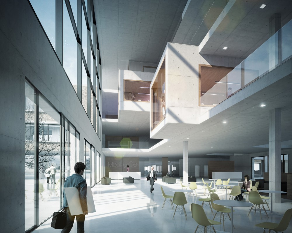 MedForCE Medical Research Center Winning Proposal / Henn Architekten