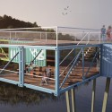Econtainer Bridge Competition Winning Proposal (2) Courtesy of Yoav Messer Architects