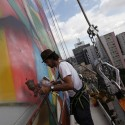 Graffiti Artist&#039;s Mural Honors Oscar Niemeyer (4)  Nacho Doce (Reuters)