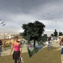 Render 5 Promenade along slope of the Park © Groundlab