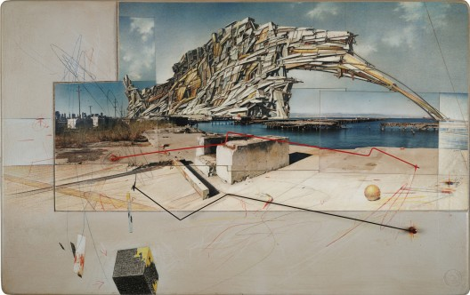 Lebbeus Woods, San Francisco Project: Inhabiting the Quake, Quake City, 1995;;  Estate of Lebbeus Woods