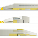 North Laser Center / blauraum elevation