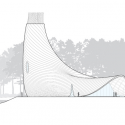 Brooks + Scarpa design Interfaith Chapel in Florida West Elevation