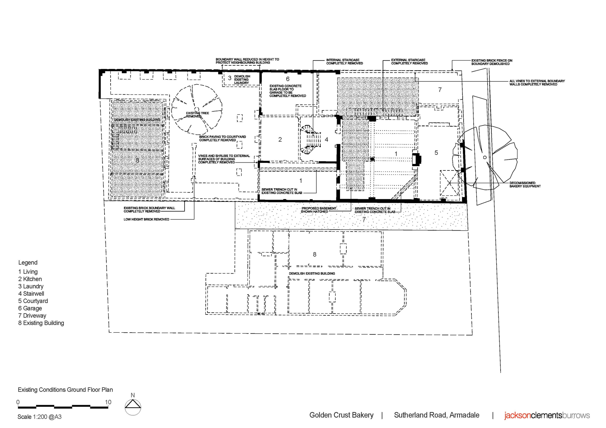 Architecture photography golden crust bakery jackson for Bakery floor plan layout