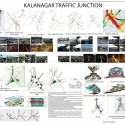 Rethinking Kala Nagar Traffic Junction - Winners Announced DYPCA—Shreesha Arondekar, Gargi Thakur, Pooja Kudale, Anaya Patil, Snehal Sonawane, Asmita Rai, and Sayali Potnis - Student Category; Image Courtesy of BMW Guggenheim Lab
