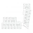 Edificio de 37 Viviendas y un Centro de Atención Primaria en Les Preses / LEP Arquitectura + XCM Arquitectura First Floor Plan
