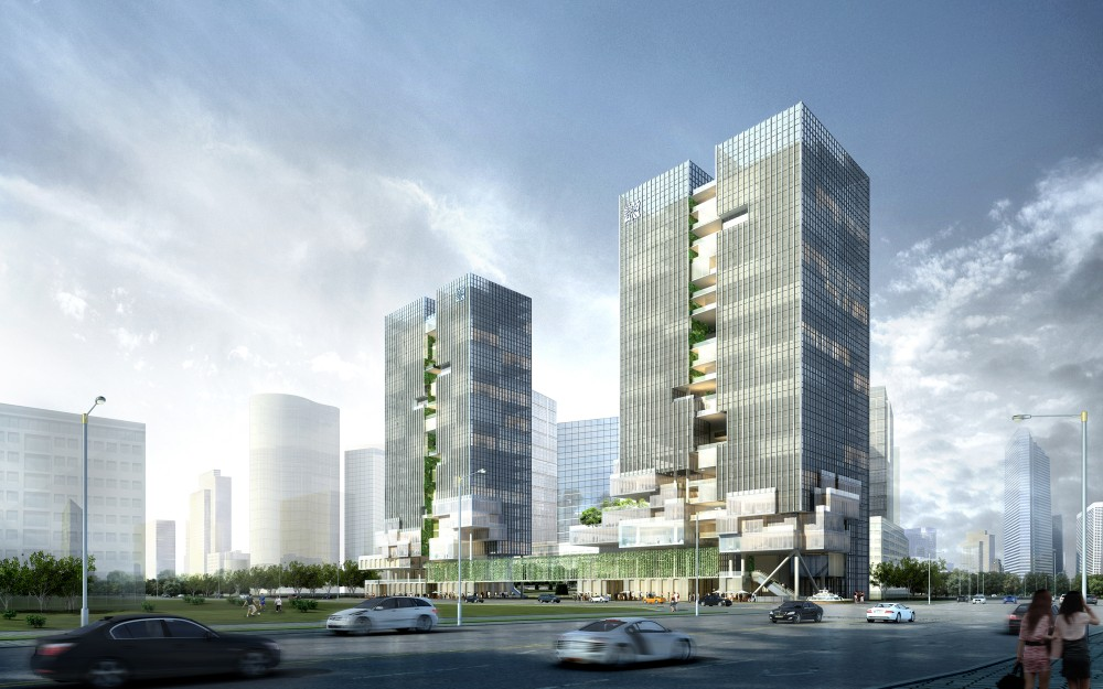 Headquarters Building for Small and Medium Enterprises Second Prize Winning Proposal / FCHA