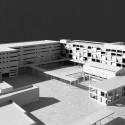 New National Contemporary Art Storage of Korea Competition Entry (8) model - existing complex with new public courtyard