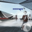 'Haze' Pavilion Proposal (5) beach / Courtesy of Salon2