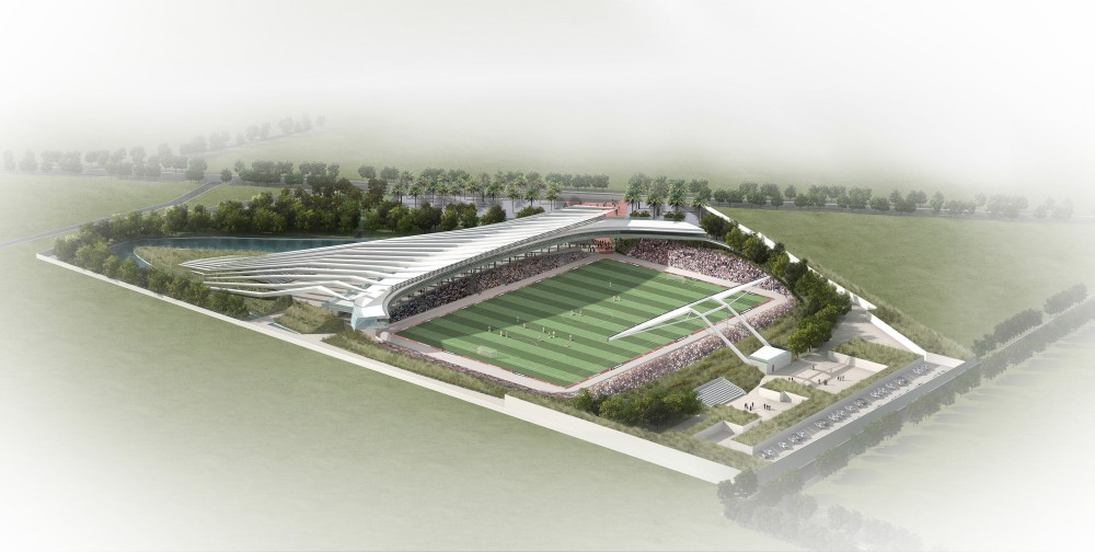 World-Class Soccer Stadium Underway in Haiti