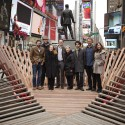 Situ Studio&#039;s &#039;Heartwalk&#039; Opens in Times Square Left to right:  Tim Tompkins, President, Times Square Alliance Aleksey Lukyanov, Situ Studio Sherry Dobbin, Director of Public Art, Times Square Arts Westley Rozen, Situ Studio Susan Chin, FAIA, Executive Director, Design Trust for Public Space Basar Girit, Situ Studio Bradley Samuels, Situ Studio Rachel Knutson, Integrated Communications Planner, General Mills (Cheerios is the official sponsor of Heartwalk)  Ka-Man Tse, Times Square Alliance