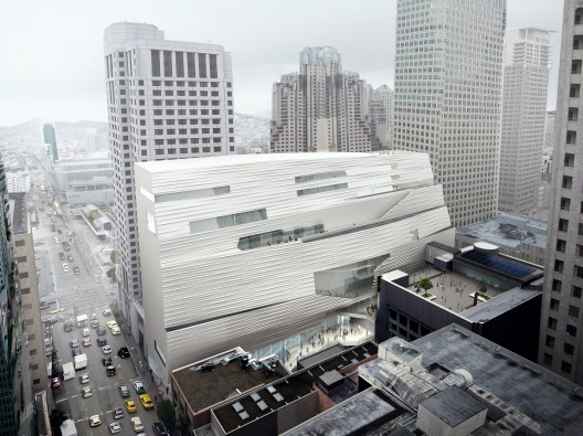 SFMOMA Expansion Aerial Southeast Façade; Courtesy of MIR and Snøhetta