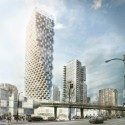 City Design Panel Endorses BIG's Mixed-Use Vancouver Tower Courtesy of BIG
