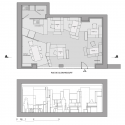 Hypernuit Offices / h2o architectes Floor Plan & Section