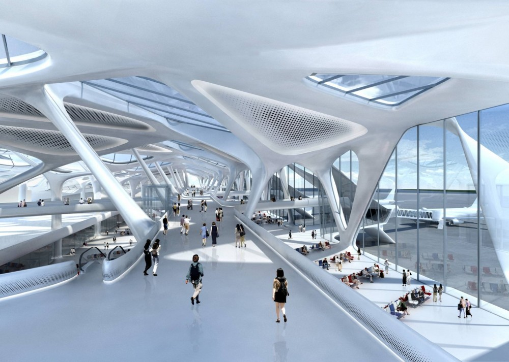 Interior del nuevo Aeropuerto Internacional de México DF