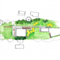 Cantilever Lake House / Birdseye Design Site Plan
