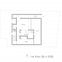 House-T / Tsukano Architect Office First Floor Plan
