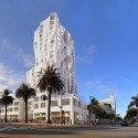 Gehry Designs Mixed-Use Tower for Downtown Santa Monica &#xa9; Gehry Partners