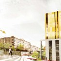 Speirs Locks Student Campus Proposal / Stallan-Brand view from Farnell Street