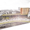Speirs Locks Student Campus Proposal / Stallan-Brand view from Speirs Warf penthouse