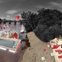 Prague Activators Proposal / Juras Lasovsky, Zuzana Masna, Koen Hezemans pool and beach