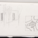 Vegetation Room Inhotim / Cristina Iglesias Sketch