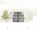 Asfinag Office Building / Peter Lorenz Ateliers East Elevation