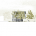 Asfinag Office Building / Peter Lorenz Ateliers West Elevation