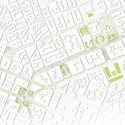 Re-Think Athens Competition Entry  / ABM Arquitectos site plan 02 - activity trees and mini buildings