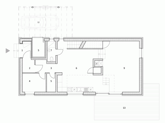 Simple House Plan With 4 Bedrooms 3d