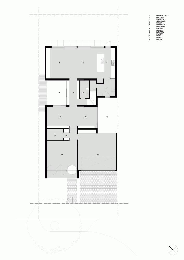 پلان خانه دو طبقه ، 400 متر، طراحی مینیمال