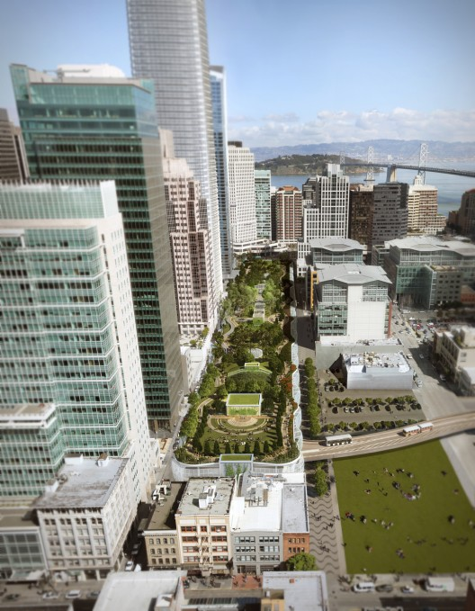 Transbay Transit Center Aerial View; © Pelli Clarke Pelli / Transbay Joint Powers Authority