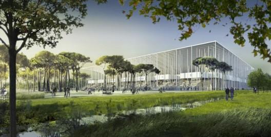معماری ، معماری استادیوم ، ساخت استادیوم با نیروگاه خورشیدی