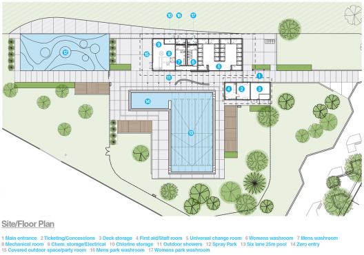 Queen elizabeth outdoor pool group2 architecture for Site floor plan