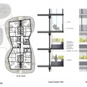 Housing Units in Nantes Winning Proposal / Hamonic + Masson plan and facade details