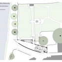 Michael Baker Boathouse / Associated Architects Site Plan