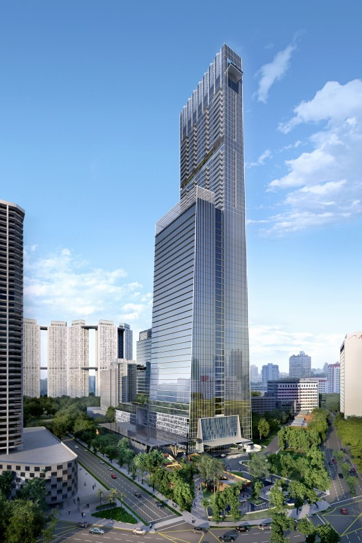 Som designs singapore s tallest tower archdaily for Famous buildings in singapore