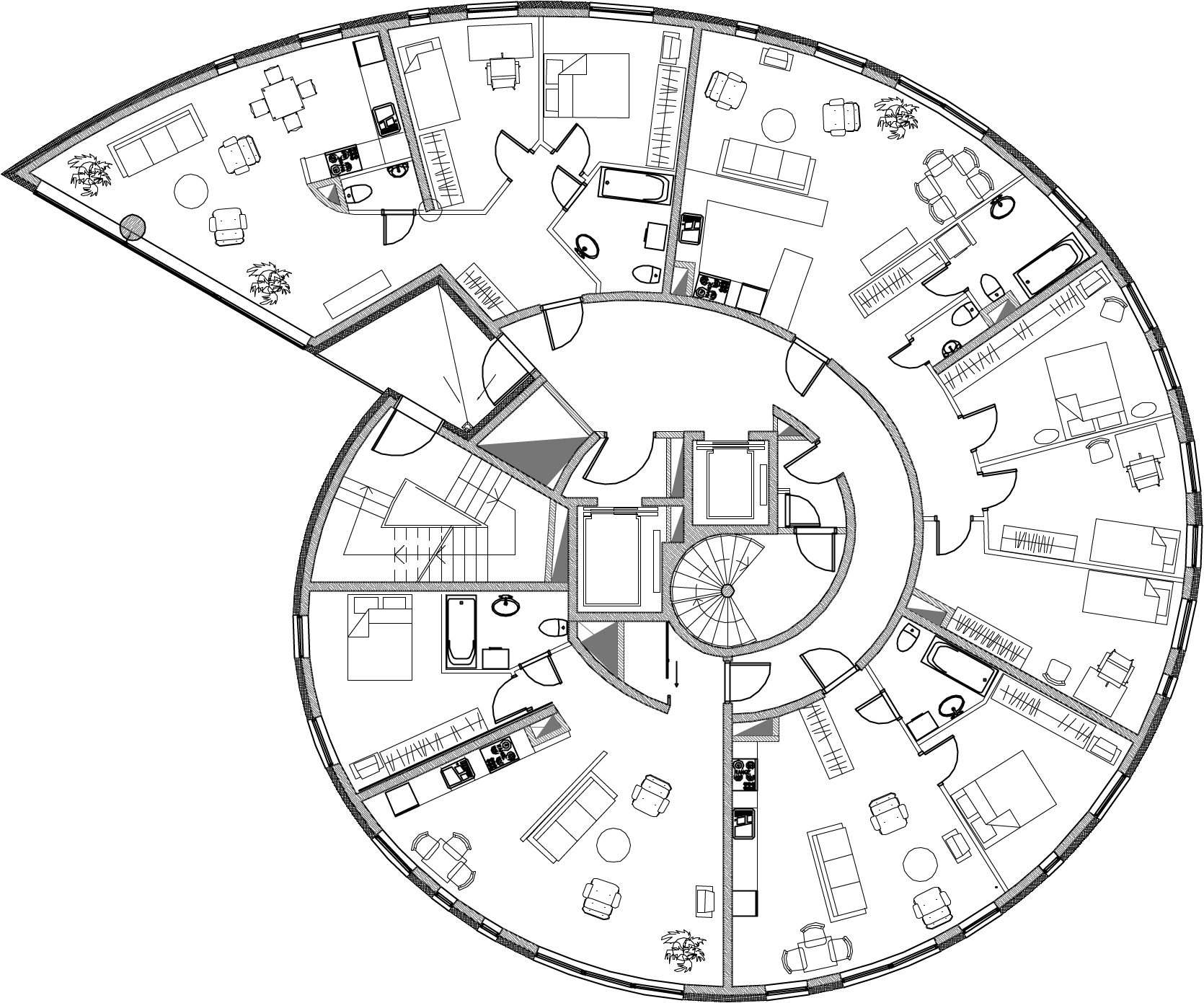 Architecture photography snailtower k nnapu padrik Round house plans floor plans