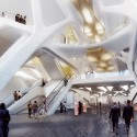 Zaha Hadid Architects Selected to Design the King Abdullah Financial District Metro Station in Saudi Arabia Courtesy of ZHA