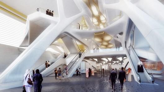 معماری مترو عربستان، طرح مترو زاها حدید