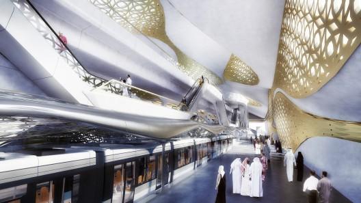 طراحی مترو،طراحی مترو زاها حدید
