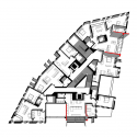Red Apple Apartment Building  / Aedes Studio Plan
