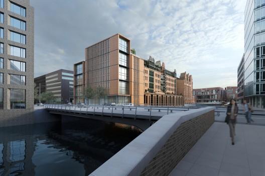 gebr heinemann headquarters extension winning proposal gmp architekten archdaily. Black Bedroom Furniture Sets. Home Design Ideas