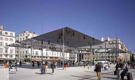 Vieux Port Pavilion / Foster + Partners, Photos by Edmund Sumner