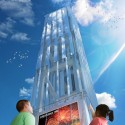 Updated Plans Released for Chicago's Navy Pier Info Tower; Courtesy of nARCHITECTS