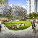 NBBJ Proposes Five-Story Biodome for Amazon's Seattle Headquarters Courtesy of Seattle.gov © NBBJ / Studio 216