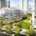 NBBJ Proposes Five-Story Biodome for Amazon's Seattle Headquarters Proposed Plan; Courtesy of Seattle.gov © NBBJ / Studio 216