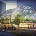 NBBJ Proposes Five-Story Biodome for Amazon's Seattle Headquarters View Looking West from 7th Avenue & Lenora Street; Courtesy of Seattle.gov © NBBJ / Studio 216