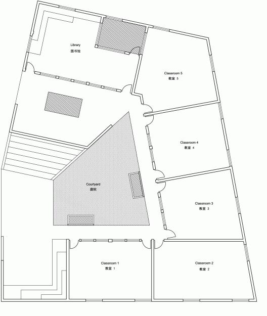 Mulan primary school rural urban framework archdaily for Urban floor plans